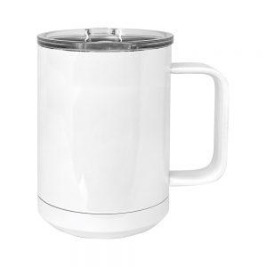 15oz Stainless Mug, White